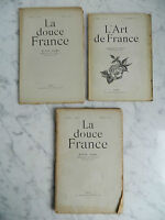 Lote 3 Revistas La Dulce Francia (ARTE) 1913-1923