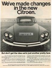 1968 Citroen  Just Another Pretty Face Smiling Car Vtg Print Ad