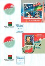 Space Soyuz Gagarin Tereshkova Belka Strelka Russia Madagascar FDCs cover set