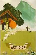 MORELL AFFICHE TOURISME ANCIENNE ESPAGNE ASTURIAS - LES ASTURIES Circa 1946