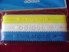Adidas Baller id Bands Wristbands Bracelets Classic Yellow White Blue 3 pk New!