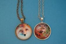 Lot of 2  FOX  Cabochon PENDANTS NECKLACES  New!  Jewelry USA SELLER!  vixen kit