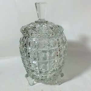 Art Deco Pineapple Tripod Legs Ice Bucket & Lid Crystal Glass Cocktails Party