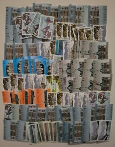 Canada lot of 100 high value used stamps off paper see photo