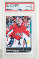 2018 Upper Deck Young Guns Ilya Samsonov Capitals Rookie RC #463 PSA 10 GEM MINT