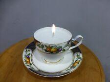 Tea Cup Candle handmade, vintage Heathcote bone china trio Retro Ideal gift