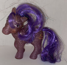 New ListingVintage G1 My Little Pony Sparkle Twinkler Purple Glitter W/ Tinsel Hair 1984