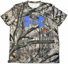 NWT Mens UA Under Armour Mossy Oak Treestand Loose Fit Heat Gear Tee Shirt Camo
