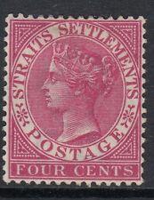Straits Settlements 1882 4c Rose SG51 Fine Mtd Mint