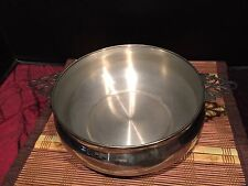 """Silver-Plated Chafing Buffet Warming Pan w/ Decorative Handles 11 1/2""""x3 1/8"""""""