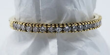 "HIDALGO MICRO BAND ""DIAMOND HALFWAY AROUND RING"" 18K YELLOW GOLD SZ. 5 AUTHENTIC"