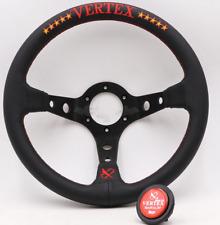 13'' Deep Dish Racing Drift Rally Tuning Sport Embroidery Vertex Steering Wheel