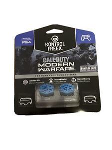KontrolFreek Call of Duty Modern Warfare Thumbsticks PS4 PS5 Blue New