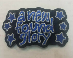 NEW FOUND GLORY COLLECTABLE RARE VINTAGE PATCH EMBROIDED 90'S METAL LIVE