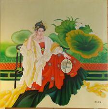 Tableau Dame Chinoise de Fu Xuequn peinture classique asiatique painting chinese