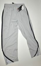 And1 Basketball Pants Gray Pockets Zip Cuffs Gray Stripe Sz Large NWT