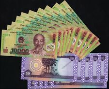 10 x 10,000 Vietnam Dong Banknotes + 10 x 50 Iraq Dinar Banknotes - Uncirculated