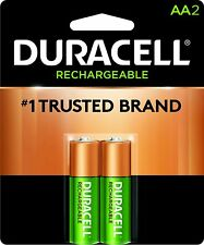 2 PACK AA RECHARGABLE DURACELL