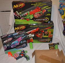 Nerf Vortex Blaster Gun Collection LOT PYRAGON & Praxis & PROTON Discs AMMO ++