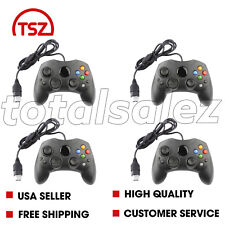4 For Original Xbox System Console Black Video Game Pad Remote Controller