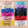 Kids Baby Girl Sequin Lace Bow Hair Band Toddler Infant Turban Headband Headwrap