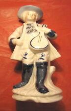 Statuina ceramica musicista musicante musico gentiluomo con mandolino liuto raro