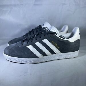 Adidas Mens Gazelle BB5480 Gray White Sneaker Shoes Lace Up Low Top Size 5