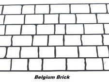25 sqft Belgium Brick Concrete Driveway Stencils for Patios, Decks, Sidewalks