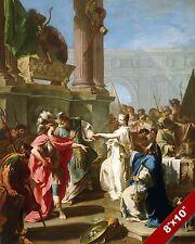 SACRIFICE OF TROJAN PRINCESS POLYXENA MYTHOLOGY ART PAINTING REAL CANVAS PRINT