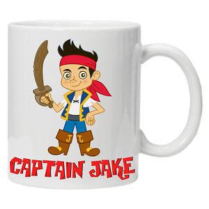 NEW Jake and the Neverland Personalised pirates mug 6 oz child mug cup tea