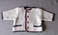 KITZ-PICHLER Austria Baby/Toddler Grey Pure WOOL Cardigan SZ 92/ 2T  - NWOT