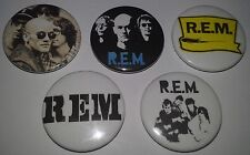 5 REM badges Document Green Out of Time Automatic for the People Monster R.E.M