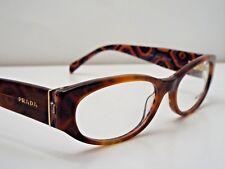 Authentic PRADA VPR03P MAU-1O1 Havana Tribal Eyeglass DEMO Frame $269