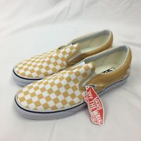 New Vans Classic Slip-on Checkerboard Yellow Shoes Size 12 Men