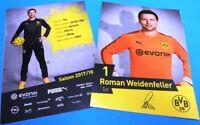 Roman Weidenfeller + Autogrammkarte 2017/2018 + Borussia Dortmund + AK201848 +