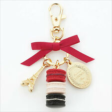 LADUREE Japan ❤ Bag Chain Keychain Ring Macaron fruits rouges Red w/ Box