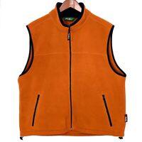 Eddie Bauer Mens Large L Polartec Burnt Orange Fleece vest
