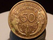 BOIS5(24) - 50 CENTIMES - MORLON - 1941 - QUALITE SUP à SUP+ !