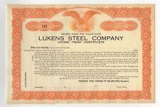 VINTAGE 1954 LUKENS STEEL COMPANY STEEL PLATE WEIGHT CALCULATOR