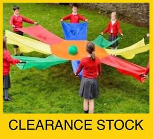 Coloured 3m Kids Play Parachute Multi Group Games Parties Toy Kinder Childcare