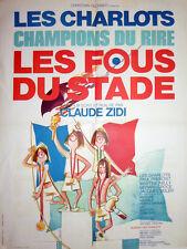 Affiche Pliée 60x80cm LES FOUS DU STADE 1972 Claude Zidi Les Charlots Rinaldi EC