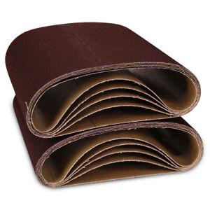"8""x19"" EZ8 Drum Floor Sanding Belts Kit 40 60 80 100 120 Grit (2 each) - 10 Pack"