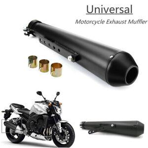 44.5cm Black Retro Motorcycle Exhaust Muffler Pipe For Cafe Racer Bobber Chopper