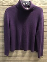 Pursuits Ltd 100% Cashmere womens size small purple turtle neck sweater