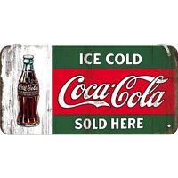 Coca-Cola Ice Cold Retro Blechschild 30cm x 40cm Schild geprägt  23191