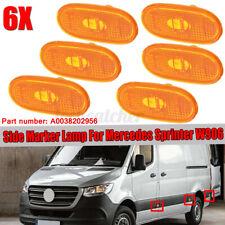 6 Pcs Side Marker Lamp Turn Signal For 07-18 Mercedes Sprinter W906