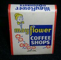 Mayflower Coffee Shops vintage Front Strike Matchbook, 20 stick book