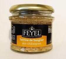 Wildschwein Terrine de Sanglier Kastanie original aus dem Elsass 180g Glas Feyel
