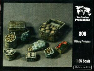 Verlinden 1:35 Assorted Military Provisions Food Sacks Baskets & Wooden Box #208