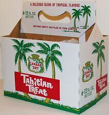 Vintage soda pop bottle carton CANADA DRY TAHITIAN TREAT palm trees unused nrmt+